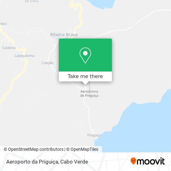 Aeroporto da Priguiça mapa