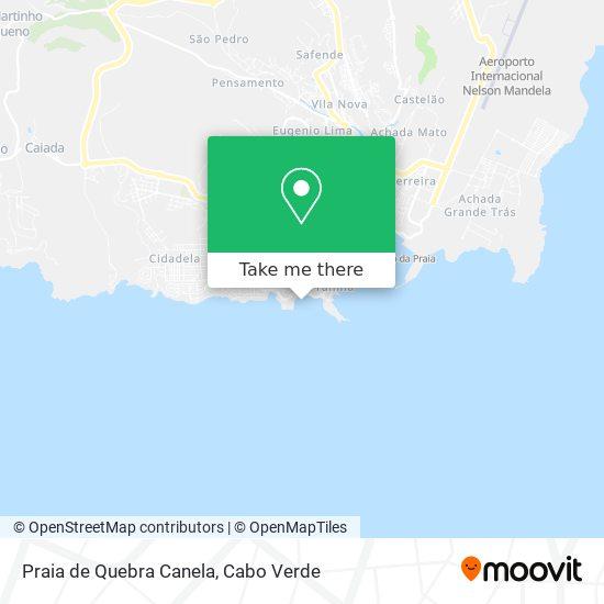 Praia de Quebra Canela mapa