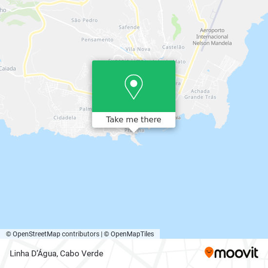 Linha D'Água mapa