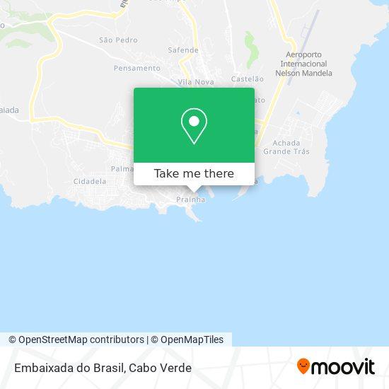 Embaixada do Brasil mapa