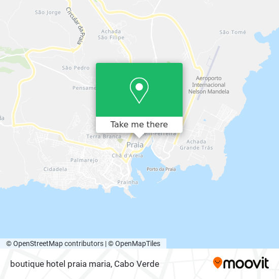 boutique hotel praia maria mapa