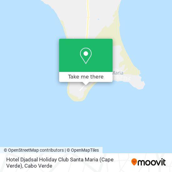 Hotel Djadsal Holiday Club Santa Maria (Cape Verde) mapa