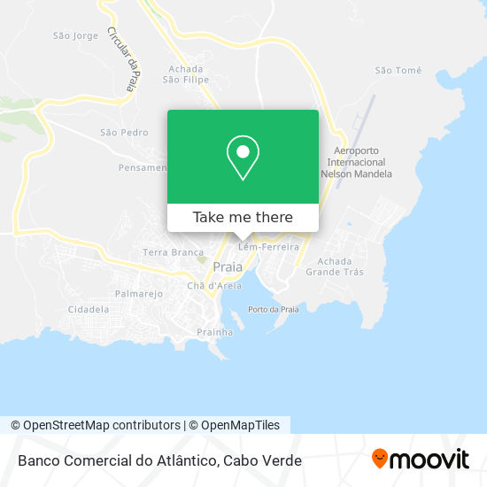 Banco Comercial do Atlântico mapa