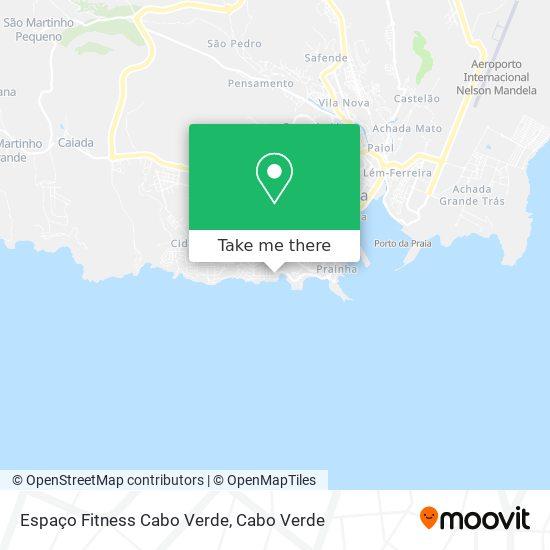 Espaço Fitness Cabo Verde mapa