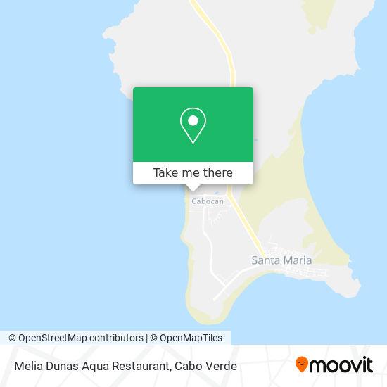 Melia Dunas Aqua Restaurant mapa