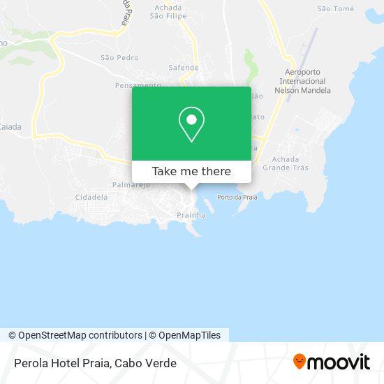 Perola Hotel Praia mapa