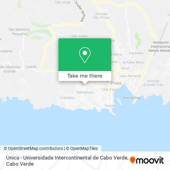 Unica - Universidade Intercontinental de Cabo Verde mapa