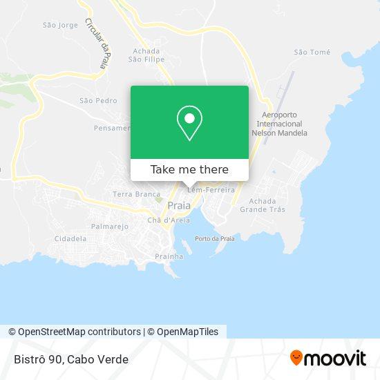 Bistrô 90 mapa