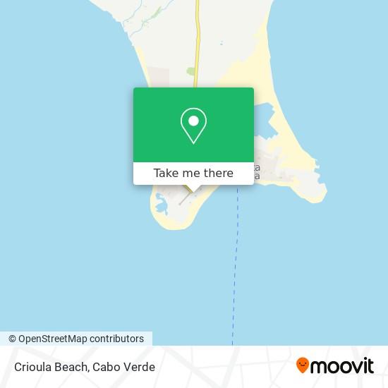 Crioula Beach mapa