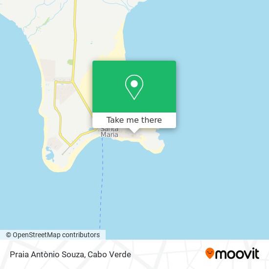 Praia Antònio Souza mapa