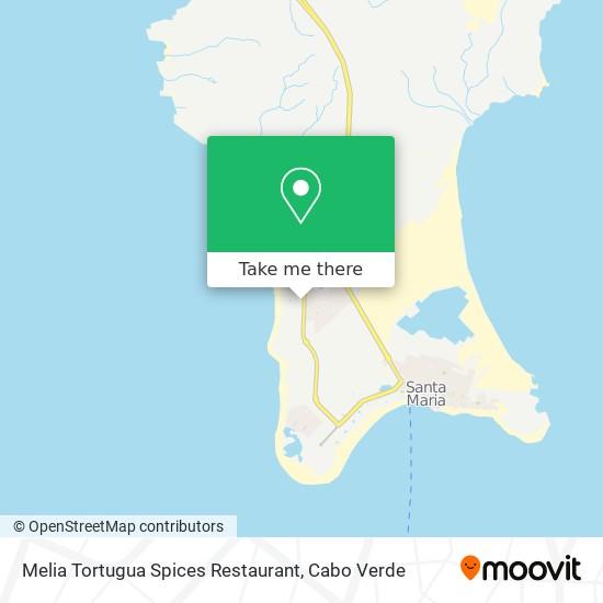 Melia Tortugua Spices Restaurant mapa
