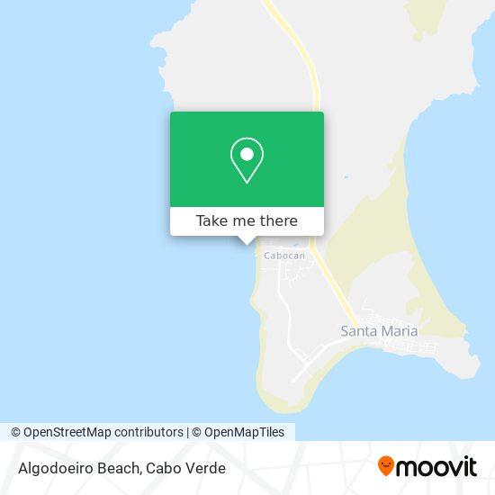 Algodoeiro Beach mapa
