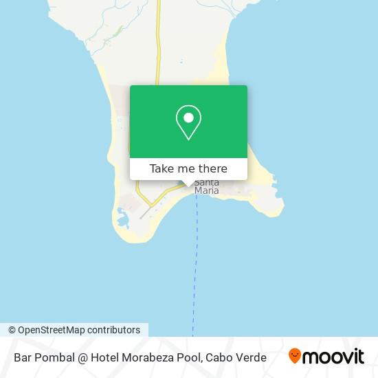 Bar Pombal @ Hotel Morabeza Pool mapa