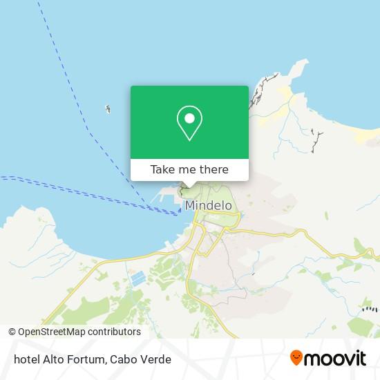 hotel  Alto Fortum mapa