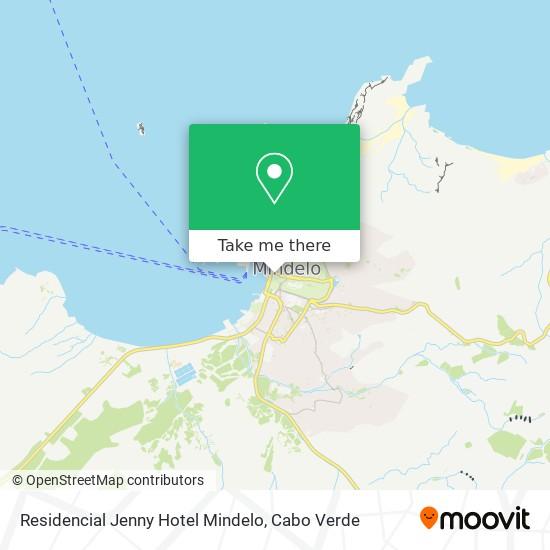 Residencial Jenny Hotel Mindelo mapa