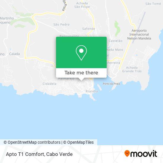 Apto T1 Comfort mapa