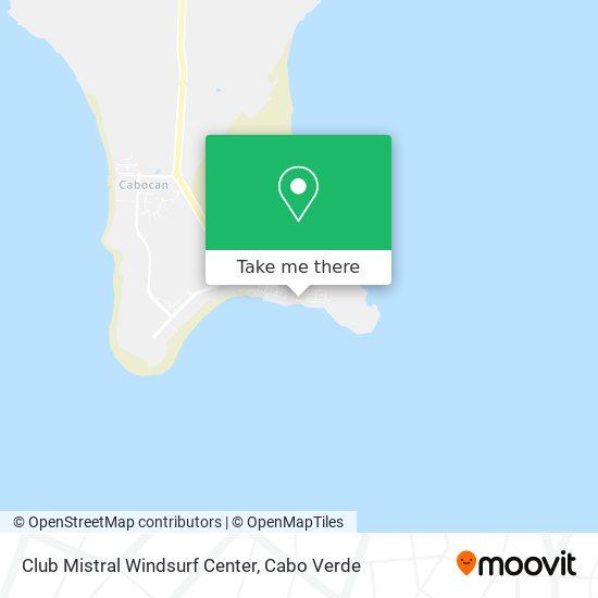 Club Mistral Windsurf Center mapa
