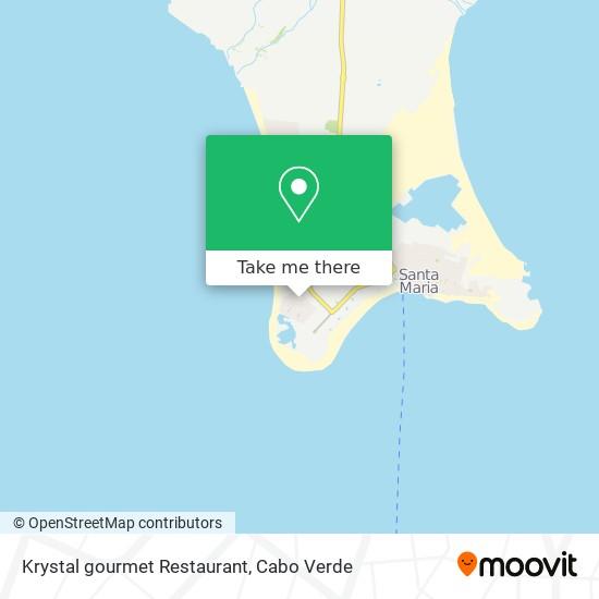 Krystal gourmet Restaurant mapa