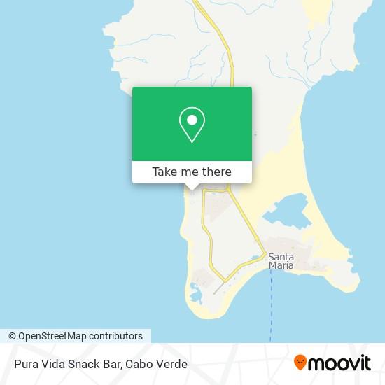Pura Vida Snack Bar mapa