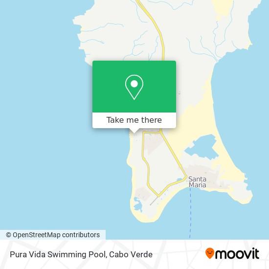 Pura Vida Swimming Pool mapa