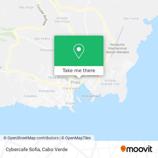Cybercafe Sofia mapa