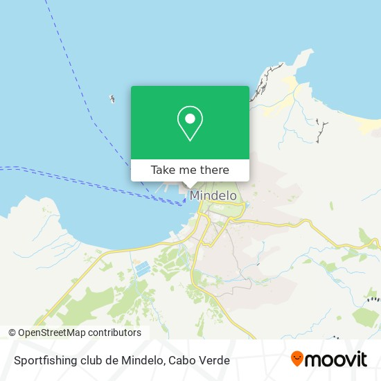 Sportfishing club de Mindelo mapa
