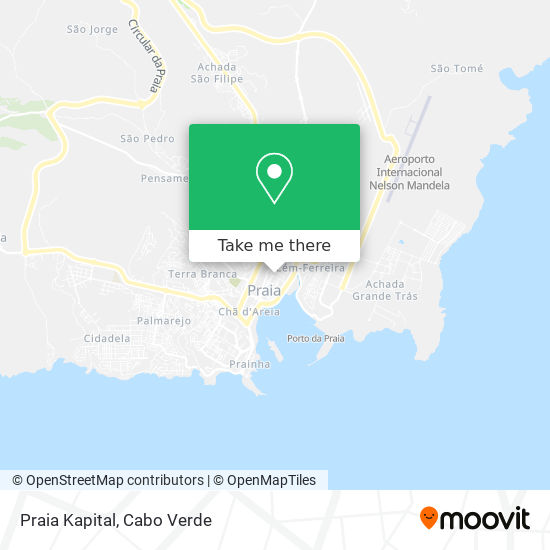 Praia Kapital mapa