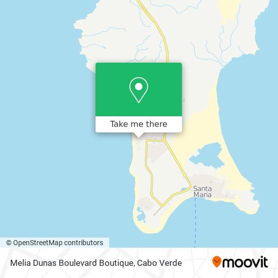 Melia Dunas Boulevard Boutique mapa