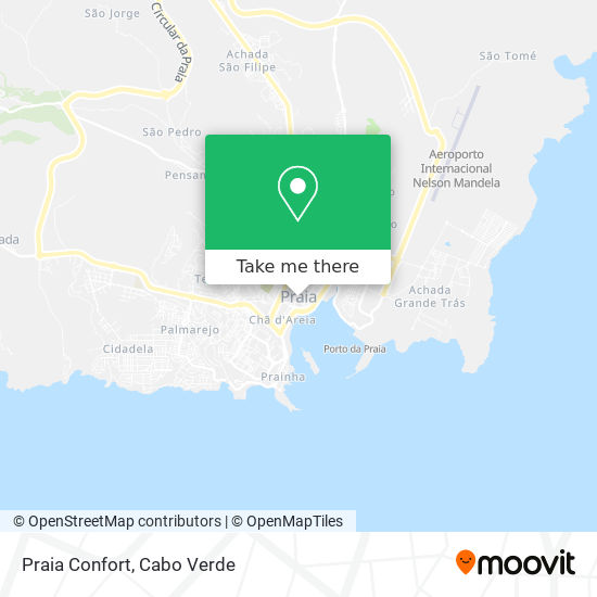 Praia Confort mapa