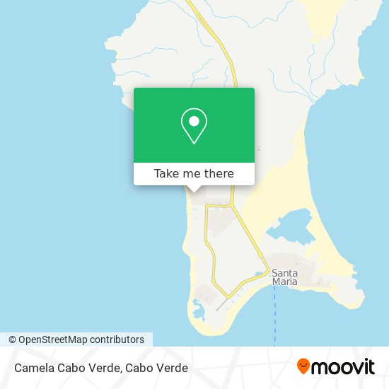 Camela Cabo Verde mapa