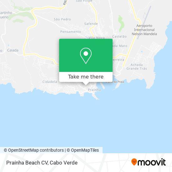 Praínha Beach CV mapa