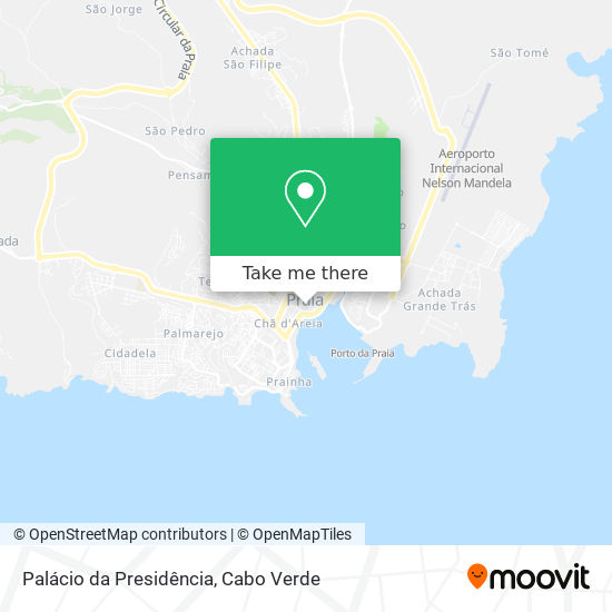 Palácio da Presidência mapa