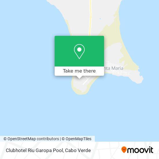 Clubhotel Riu Garopa Pool mapa