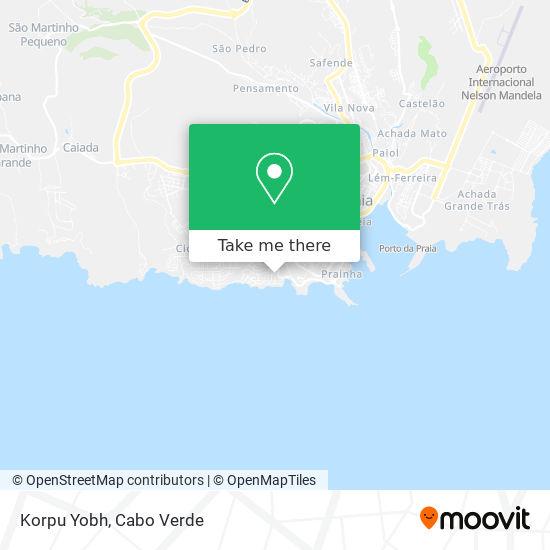 Korpu Yobh mapa