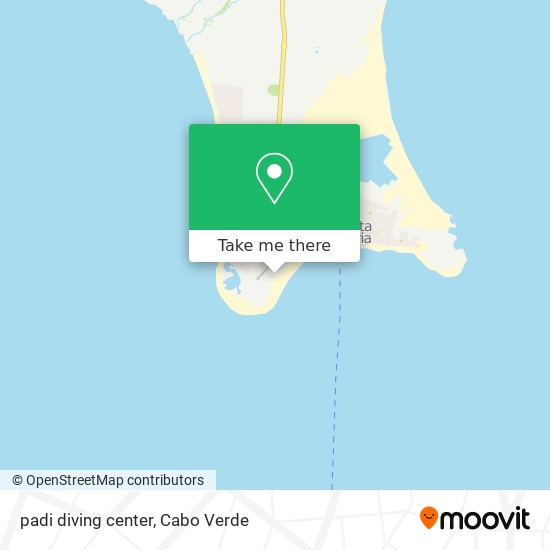padi diving center mapa