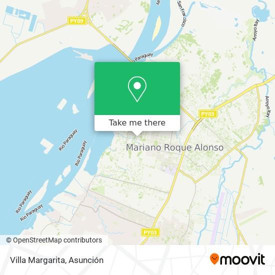 Villa Margarita map