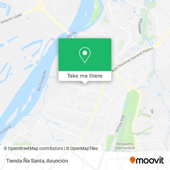 Tienda Ña Santa map
