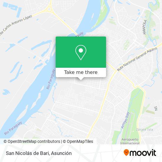 San Nicolás de Bari mapa