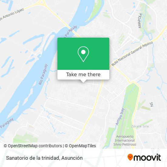 Sanatorio de la trinidad map