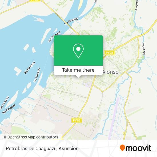 Petrobras De Caaguazu mapa