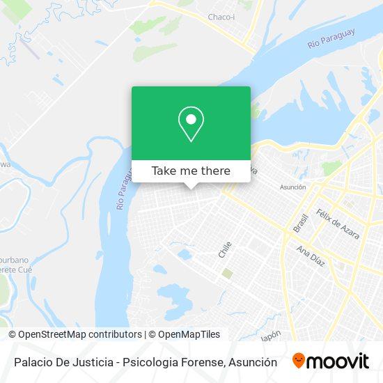 Palacio De Justicia - Psicologia Forense mapa