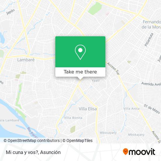 Mi cuna y vos? mapa
