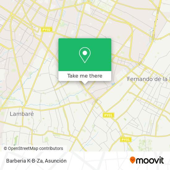Barberia K-B-Za mapa