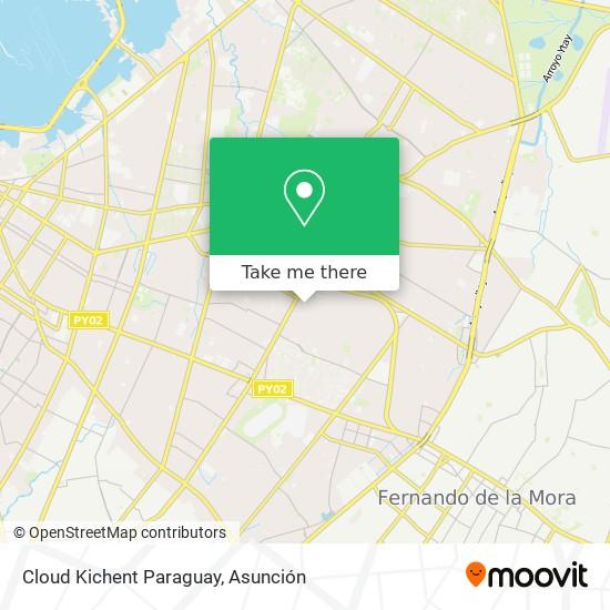 Cloud Kichent Paraguay mapa
