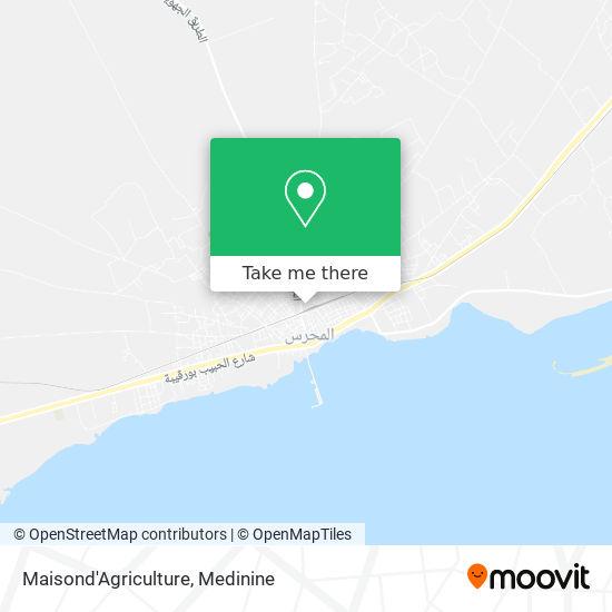 Maisond'Agriculture plan