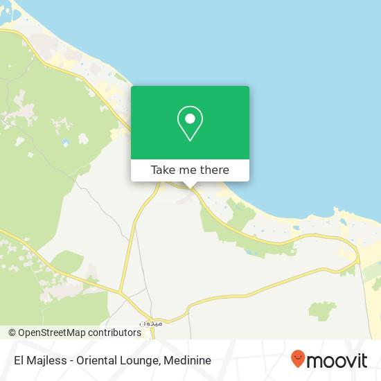 El Majless - Oriental Lounge plan