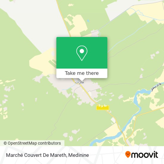Marché Couvert De Mareth plan