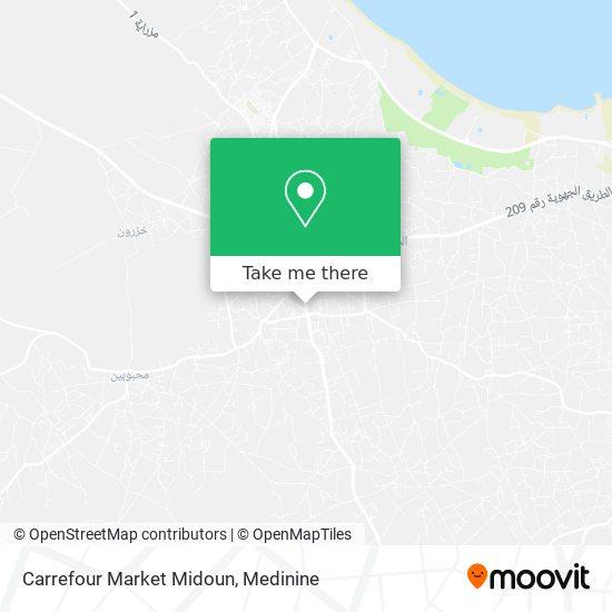 Carrefour Market Midoun plan