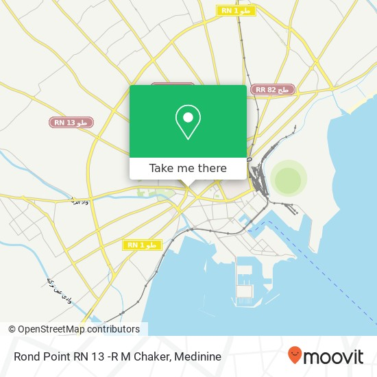 Rond Point RN 13 -R M Chaker plan