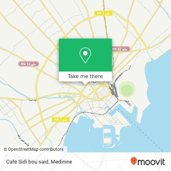 Café Sidi bou said plan